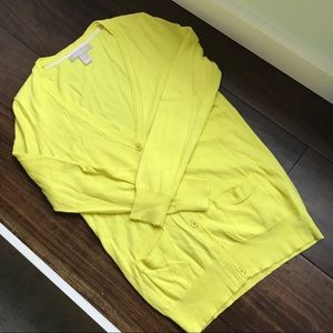 Banana Republic Blight Yellow Cardigan